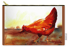 Picking With The Chickens Carry-all Pouch