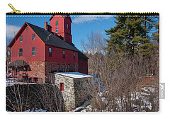 Carry-all Pouch featuring the photograph Old Red Mill - Jericho, Vt. by Joann Vitali
