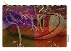 Old Red Sneakers Carry-all Pouch