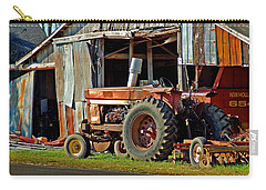 Old Red Tractor And The Barn Carry-all Pouch