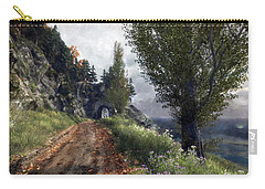 Old Road By The Sea Carry-all Pouch