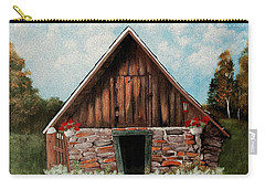Carry-all Pouch featuring the painting Old Root House by Anastasiya Malakhova