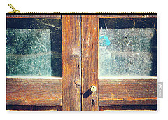 Carry-all Pouch featuring the photograph Old Rotten Door by Silvia Ganora