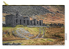 Carry-all Pouch featuring the photograph Old Ruin At Cwmorthin by Adrian Evans