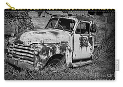 Old Rusty Chevy In Black And White Carry-all Pouch by Paul Ward