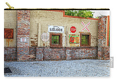 Carry-all Pouch featuring the photograph Old Saloon Wall by Doug Camara