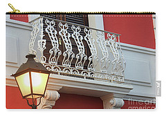Old San Juan Balcony Carry-all Pouch by The Art of Alice Terrill