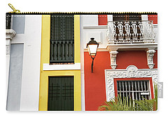 Old San Juan Homes Carry-all Pouch by The Art of Alice Terrill