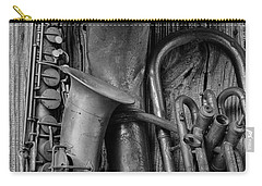 Old Sax And Tuba Carry-all Pouch