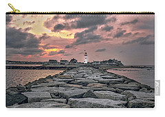 Old Scituate Light At The End Of The Jetty Carry-all Pouch