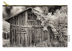 Carry-all Pouch featuring the photograph Old Shed In Sepia by Greg Nyquist