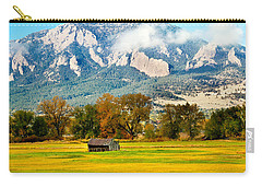 old shed against Flatirons Carry-all Pouch