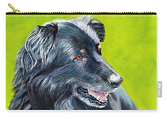 Carry-all Pouch featuring the painting Old Shep by John Neeve