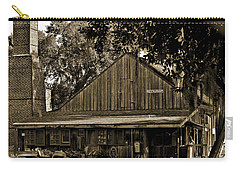 Carry-all Pouch featuring the photograph Old Spanish Sugar Mill Sepia by DigiArt Diaries by Vicky B Fuller