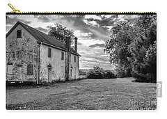 Old Stone House Black And White Carry-all Pouch