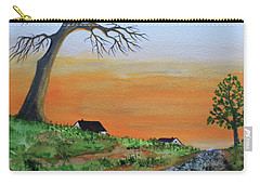 Carry-all Pouch featuring the painting Old Stone Trail by Jack G Brauer