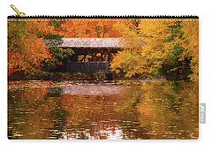 Carry-all Pouch featuring the photograph Old Sturbridge Village Covered Bridge by Jeff Folger