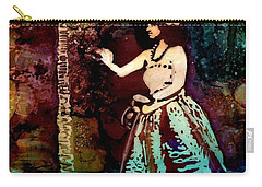 Carry-all Pouch featuring the painting Old Time Hula Dancer by Marionette Taboniar