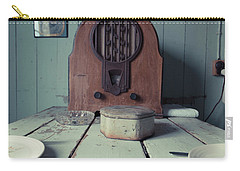 Carry-all Pouch featuring the photograph Old Time Kitchen Table by Edward Fielding
