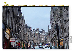Old Town Edinburgh Carry-all Pouch by Margaret Brooks