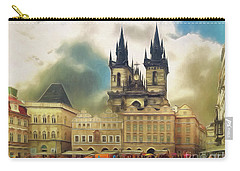 Old Town Square Prague In The Rain Carry-all Pouch