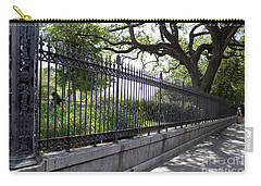 Old Tree And Ornate Fence Carry-all Pouch
