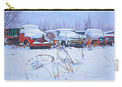 Old Trucks In Snow Carry-all Pouch