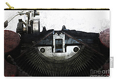 Old Typewriter Machine In Grunge Style Carry-all Pouch by Michal Boubin