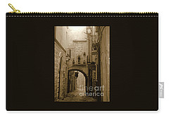 Carry-all Pouch featuring the photograph Old Village Street by Frank Stallone