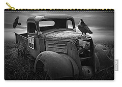 Old Vintage Chevy Pickup Truck With Ravens Carry-all Pouch