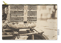 Carry-all Pouch featuring the photograph Old Vintage Tractor Brown Toned by Edward Fielding