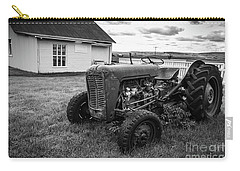 Carry-all Pouch featuring the photograph Old Vintage Tractor Iceland by Edward Fielding