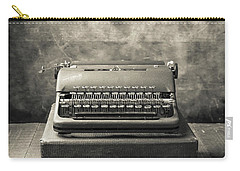 Carry-all Pouch featuring the photograph Old Vintage Typewriter  by Edward Fielding