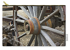 Carry-all Pouch featuring the photograph Old Waagon Wheel by Phyllis Denton