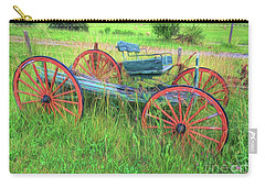 Carry-all Pouch featuring the photograph Old Wagon by Marion Johnson