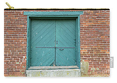 Old Warehouse Loading Door And Brick Wall Carry-all Pouch