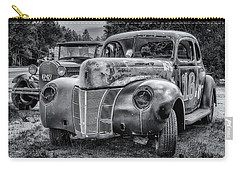 Old Warrior - 1940 Ford Race Car Carry-all Pouch by Ken Morris