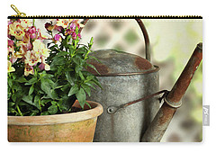 Old Watering Can With Plant Carry-all Pouch