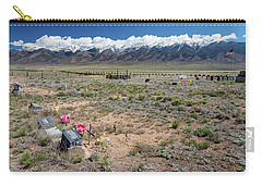 Old West Rocky Mountain Cemetery View Carry-all Pouch by James BO Insogna