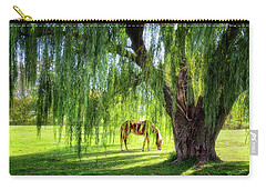 Old Willow Tree In The Meadow Carry-all Pouch