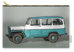 Old Willys Jeep Wagon Carry-all Pouch