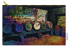 Carry-all Pouch featuring the digital art Old Wine Barrels by Glenn McCarthy Art and Photography