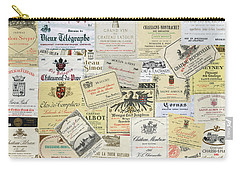Old Wine Labels Carry-all Pouch
