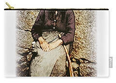 Old Woman Of Spain Carry-all Pouch by Kenneth De Tore