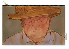 Old Woman With Yellow Hat Carry-all Pouch