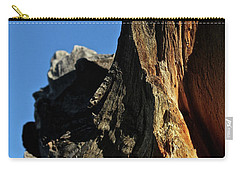 Carry-all Pouch featuring the photograph Old Wood  by Ann E Robson