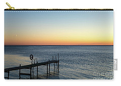 Carry-all Pouch featuring the photograph Old Wooden Bath Pier by Kennerth and Birgitta Kullman