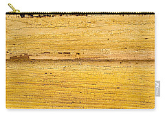 Old Yellow Paint On Wood Carry-all Pouch by John Williams