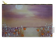 Olde Tyme Pumpkin Patch And Maze Carry-all Pouch by Sharyn Winters