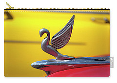 Carry-all Pouch featuring the photograph Oldsmobile Packard Hood Ornament Havana Cuba by Charles Harden